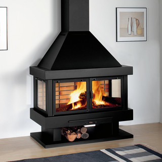 Rocal barbara 120 wood burning stove contemporary for Garden rooms rocal