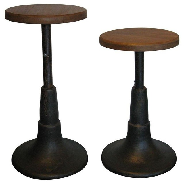 Industrial Stools A Pair Industrial Bar Stools And