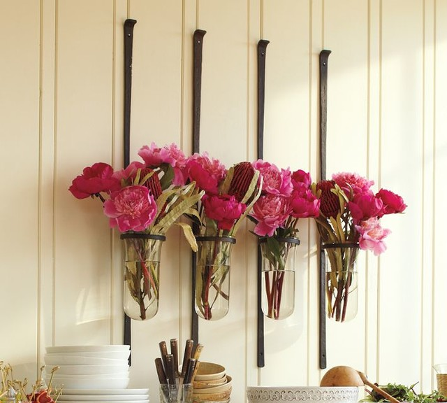 Artisanal wall mount vase modern vases by pottery barn - Great decorative flower vase designs ...