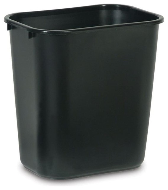 Rubbermaid commercial products 28 quart black wastebasket contemporary wastebaskets by the - Modern wastebasket ...