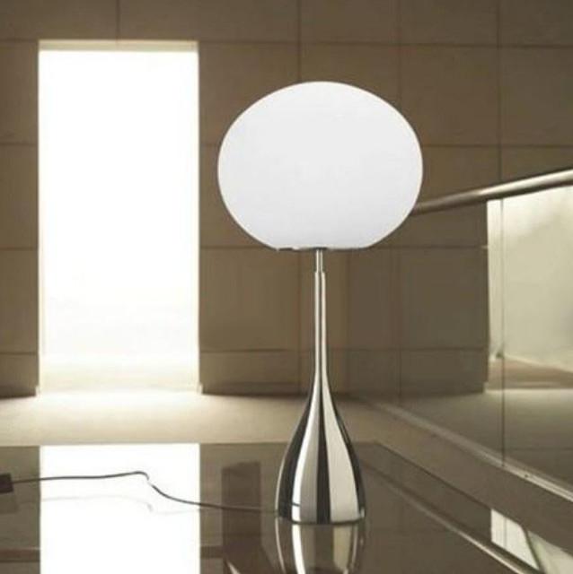 Modern Metal Floor Lamp: Modern Glass Egg Metal Table Lamp