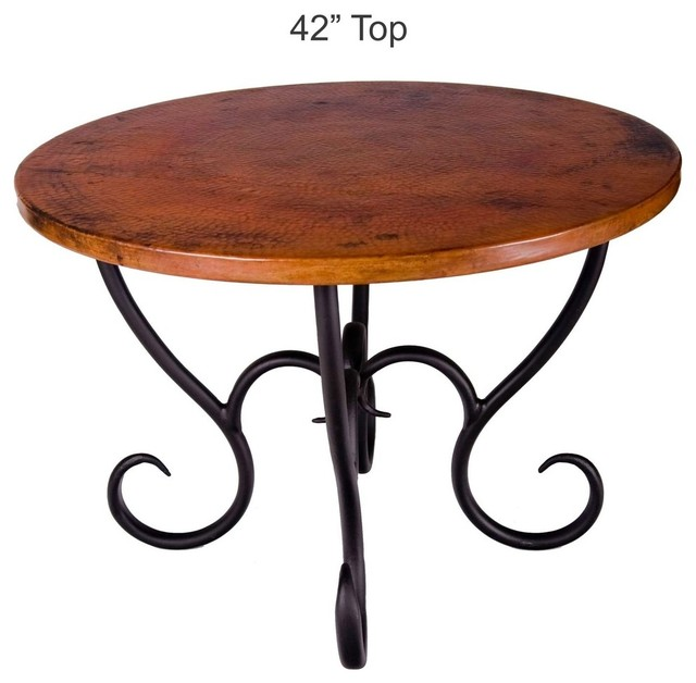 Milan Dining Table With 42 Round Top Craftsman Dining Tables By