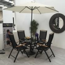Blackline 4 seater garden furniture set contemporary outdoor dining sets dublin by outhaus - Garden furniture dublin ...