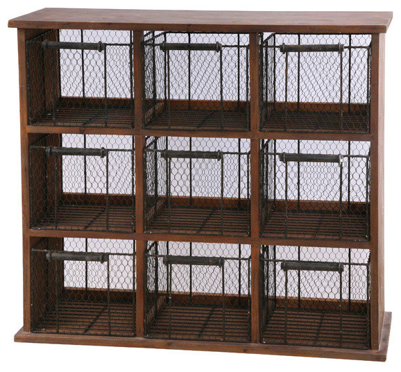 Wire Fruit Cabinet - Farmhouse - Accent Chests And Cabinets - by Winward Designs
