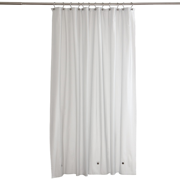 Frosty Clear Commercial Grade Vinyl Shower Curtain Liner Contemporary Shower Curtains By
