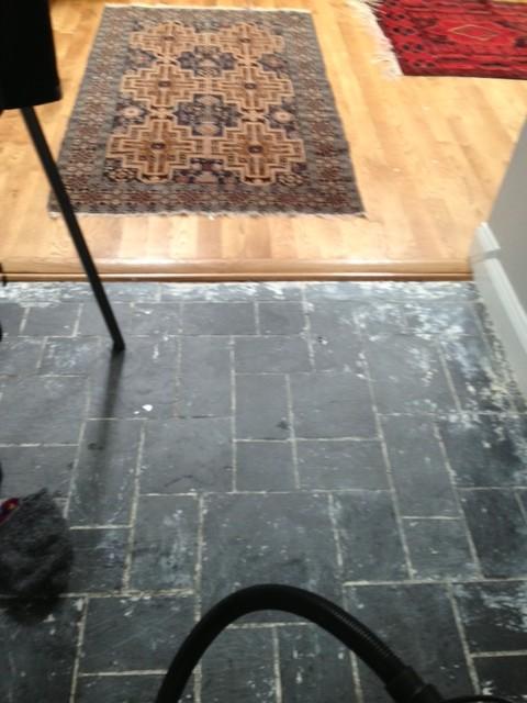Asbestos floor tiles removal