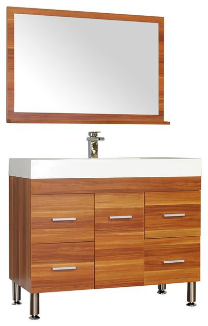 Alya bath 39 single modern bathroom vanity cherry modern bathroom vanities and sink consoles for Modern bathroom vanities for less