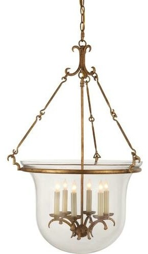 Visual Comfort Chc2212gi Chart House 6 Light Bell Jar