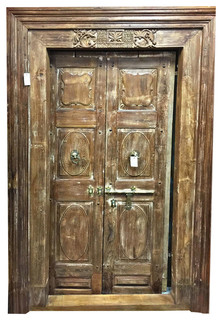 Wooden door indian style mediterranean internal doors for Mediterranean interior doors
