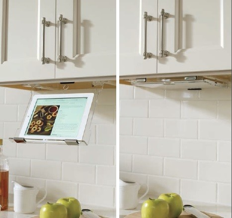 Under Cabinet Tablet Holder - Contemporary - Kitchen Drawer Organizers - by DirectSinks