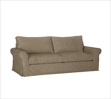 Pb Comfort Roll Arm Slipcovered Grand Sofa Down Blend