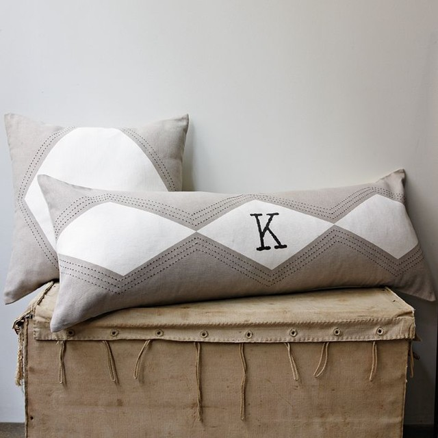 Decorative Pillows At West Elm : Stitched Diamond Pillow Cover - Modern - Decorative Pillows - by West Elm