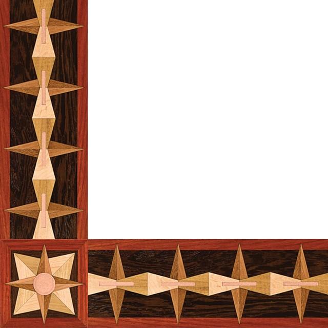 Oshkosh designs post modern inlay border and corner