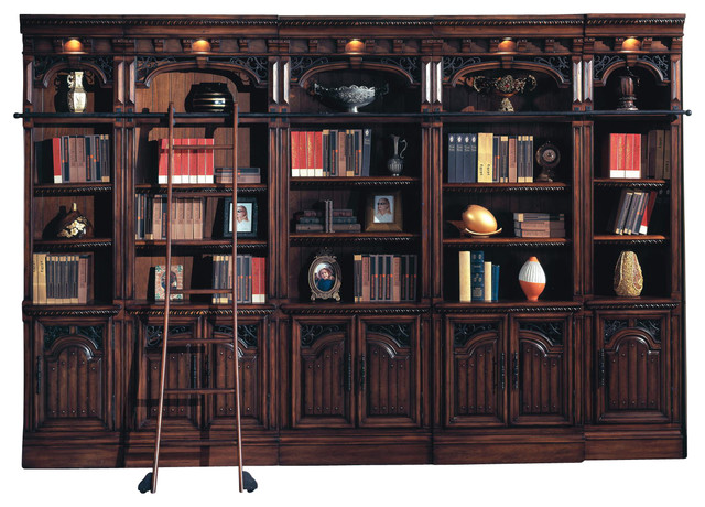 Parker House Barcelona Library Inset Bookcase Wall With