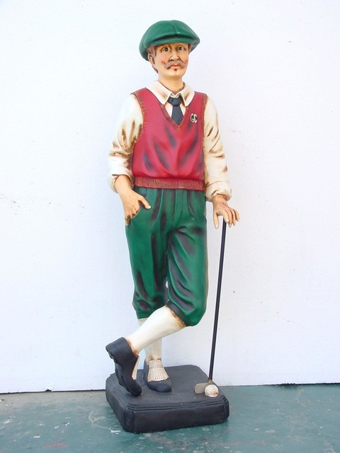 golfer statue 3 5ft home decor dallas by the