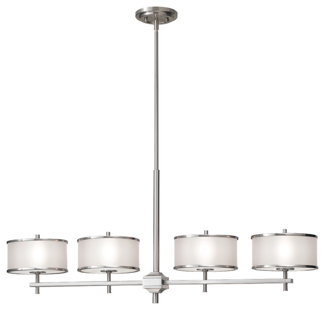 Murray Feiss Zara: Murray Feiss F2344/4BS Casual Luxury 4 Bulb Brushed Steel