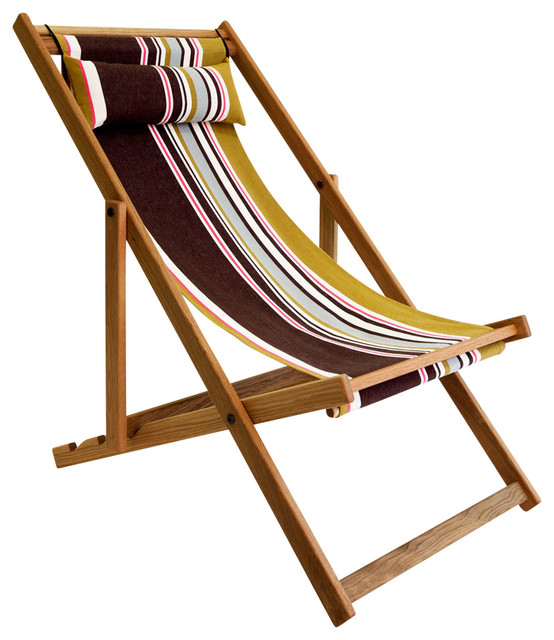 Tywyn Deck Chair traditional outdoor folding chairs