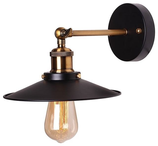 Not On The High Street Industrial Wall Light : Retro Industrial Wall Sconce - Industrial - Wall Sconces - by Lamps Next