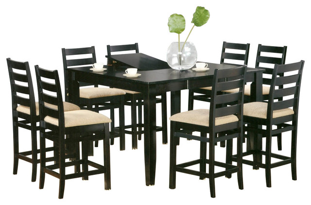 jeffie 7 piece 54 inch non swivel counter height set with leaf