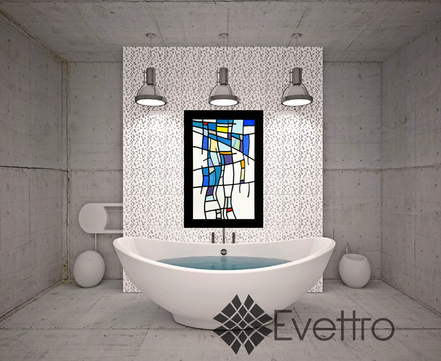 Blue Bleeding Bathroom Inspiration Contemporary Bathroom Los Angeles By Evettro Art
