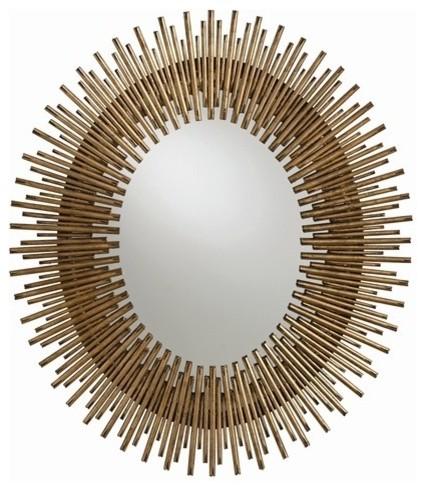 Arteriors prescott mirror oval traditional wall for Prescott mirror