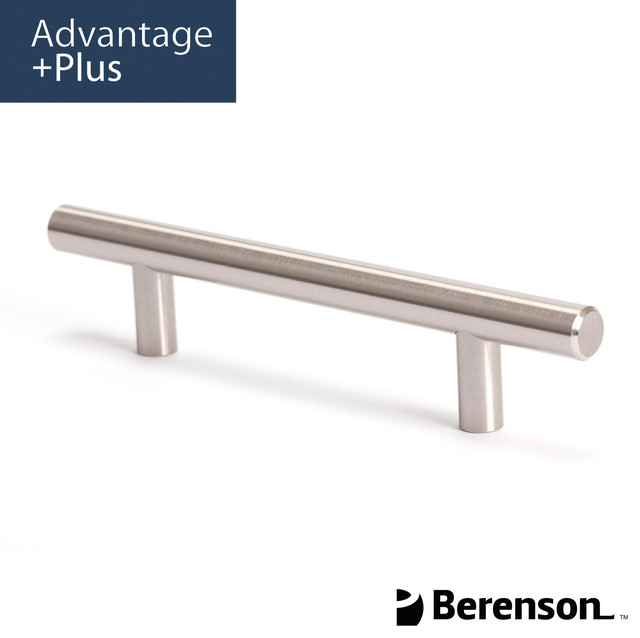 9401-2BPN-P Brushed Nickel Cabinet Pull by Berenson - Modern - Cabinet And Drawer Handle Pulls ...