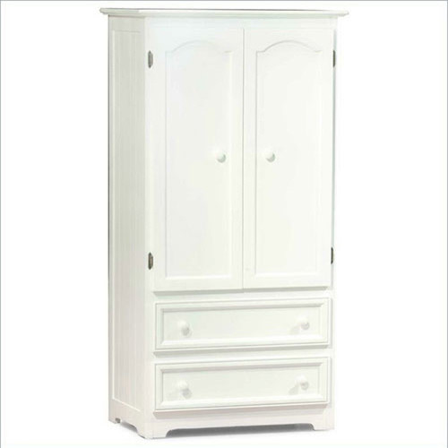 Manhattan MultiPurpose TVWardrobe Armoire in White