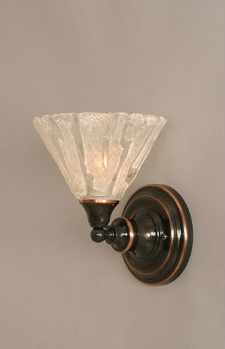 Black Copper Wall Sconce with Italian Ice Glass - Modern - Wall Sconces - by Bellacor