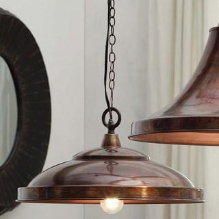 Copper Finish Domed Pendant Lamp Eclectic Pendant