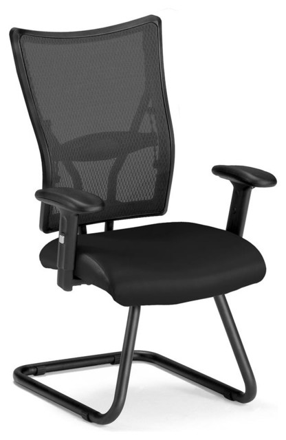 guest mesh chair black contemporary office chairs by shopladder