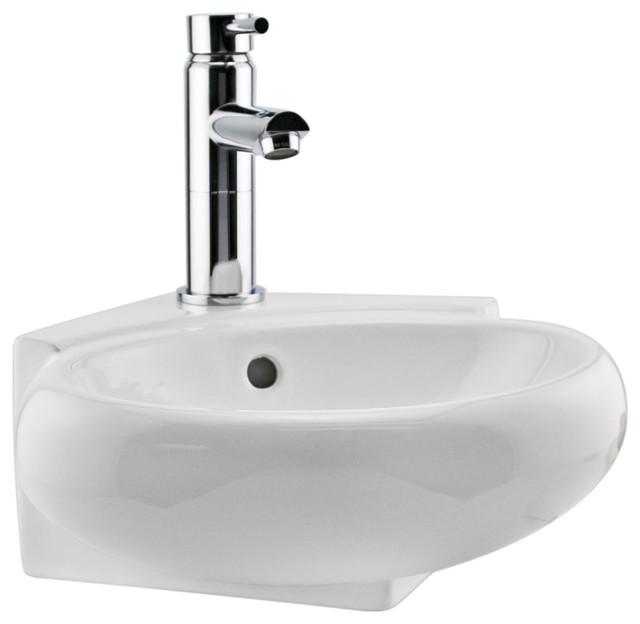 Oscar Wall-Mount Corner Sink - Traditional - Bathroom ...