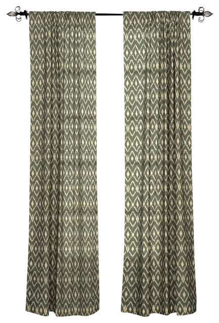 Rizzy Home Window Panel Gray Southwestern Curtains By Rizzy Home