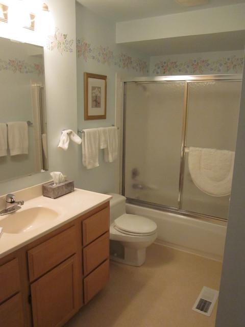Before photo kirkland bathroom remodel for Bathroom decor kirklands