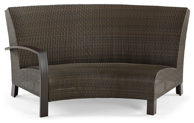 Del Mar Left Facing Curved Outdoor Sofa Traditional