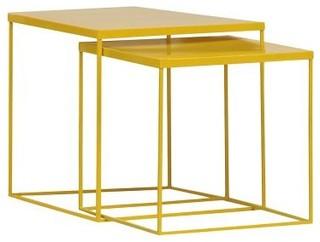beistelltisch quadrato 2er set gelb modern. Black Bedroom Furniture Sets. Home Design Ideas