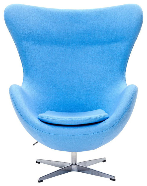 Glove Lounge Chair in Baby Blue Modern Armchairs And Accent Chairs