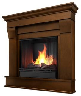 Chateau corner ventless gel fireplace in espr for Indoor corner fireplace
