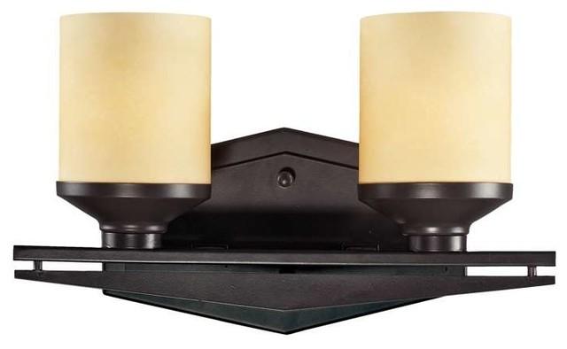 Elk lighting 14092 2 cordova transitional bathroom light in oiled bronze mediterranean for Mediterranean bathroom lighting