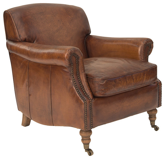Ladbroke Armchair in Antique Leather - Traditional ...