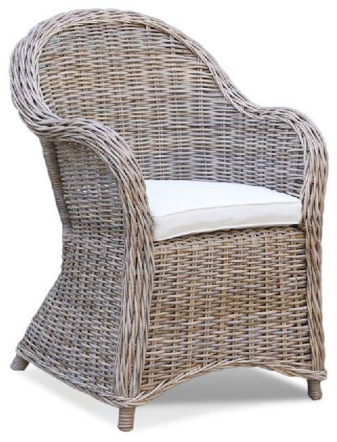 Kubu Roma Natural Gray Woven Chair