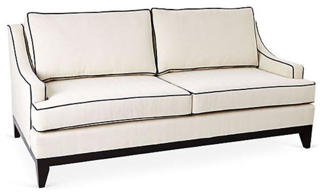 Dallas Sofa Mink Transitional Sofas By Taylor Burke