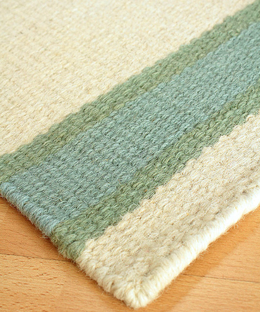 Shelter island wool berber stripe rug transitional for Wool berber area rug