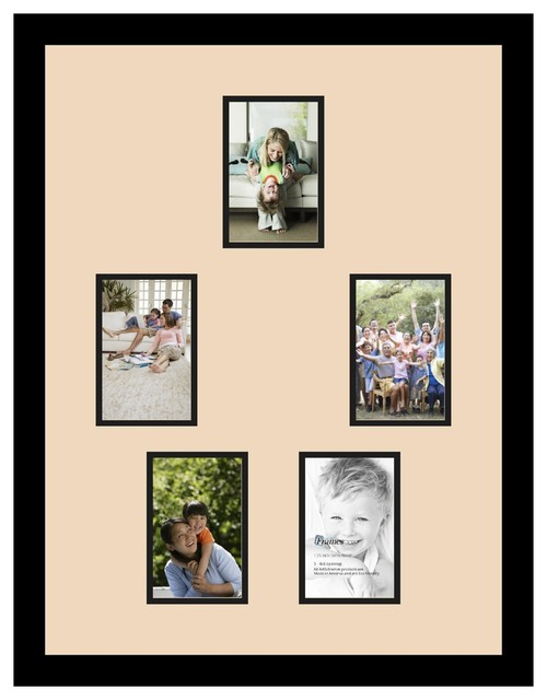 Arttoframes collage photo frame with 5 4x6 openings for Modern collage frame