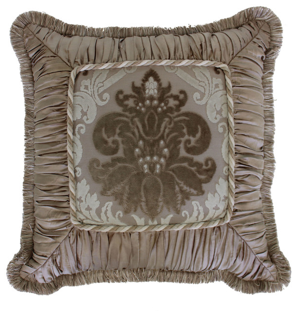 Decorative Victorian Pillows : Austin Horn Classics Minuet Shirred Fringed Pillow - Victorian - Decorative Pillows - by Sherry ...
