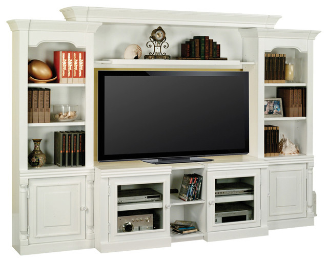 Alpine Entertainment Center With Expandable TV Stand - Traditional - Entertainment Centers And ...