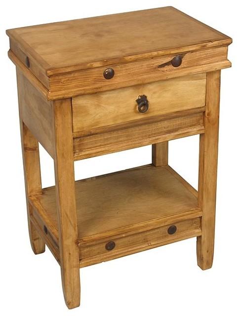 Rustic Wood Bedside Table: Rustic Pine Side Table