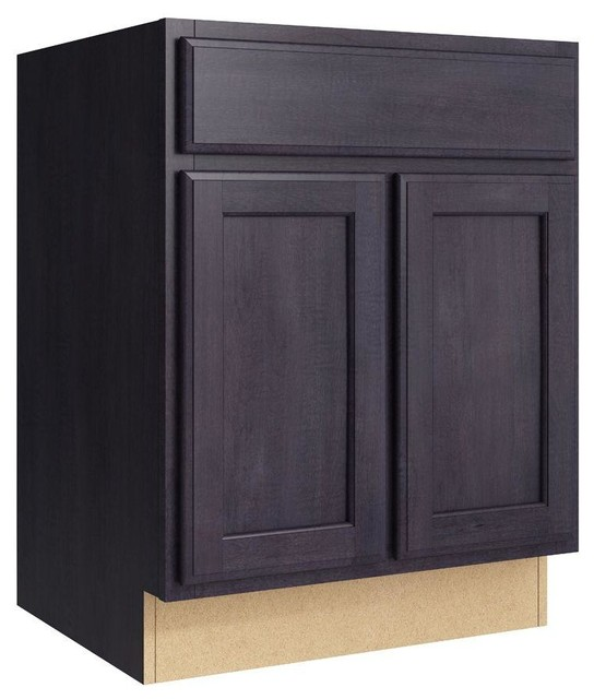 Cardell Cabinets Stig 24 in. W x 31 in. H Vanity Cabinet Only in Ebon ...