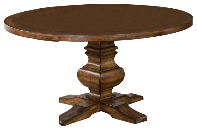 Cornerstone Round Table Traditional Dining Tables By