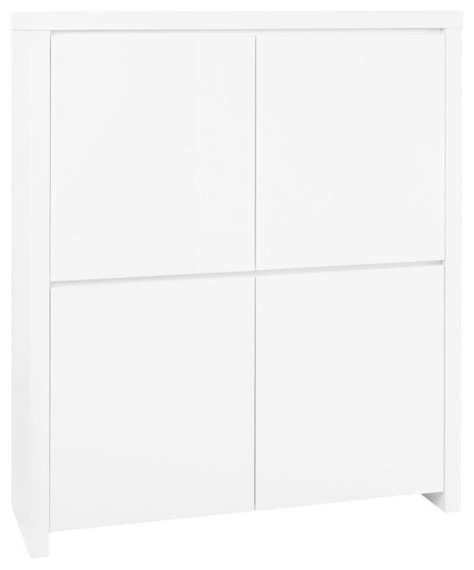 valia buffet haut 4 portes finition laqu e contemporain buffet et bahut par alin a. Black Bedroom Furniture Sets. Home Design Ideas