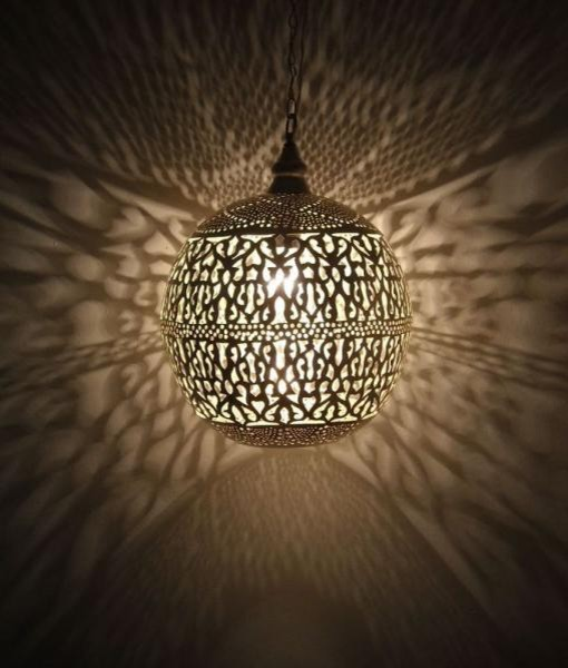 Moroccan Wall Lights Silver : Moroccan Pendant Lamp - Lighting - by E Kenoz